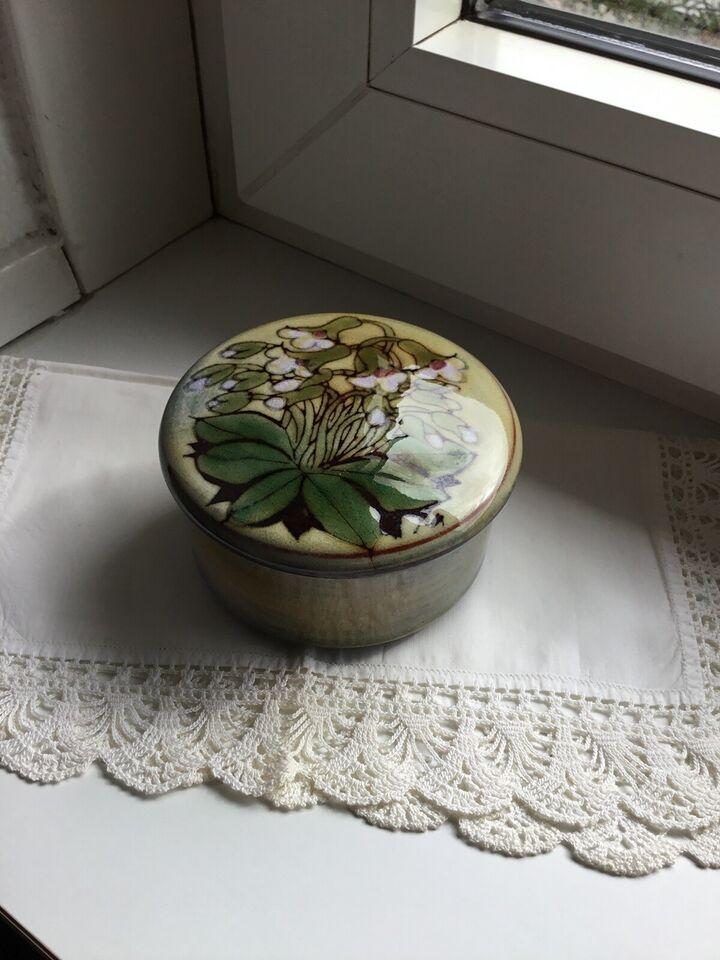 Keramik krukke med låg., Chelsea England