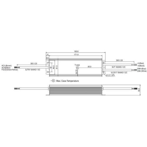 LED Netzteil 96W 48V 2A ; MeanWell HLG-100H-48A ; Schaltnetzteil