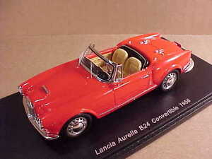 Spark-1-43-Resin-1956-Lancia-Aurelia-B24-Open-Top-Convertible-w-LHD-Red-S2378