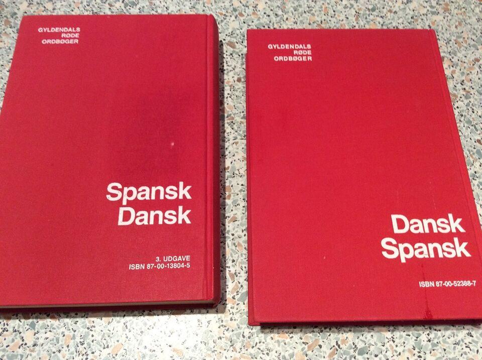 2 stk. Dansk Spansk/spansk dansk, Gyldendal, år 1994