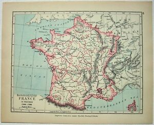 Map Of France Provinces.Vintage Map Of France In Provinces 1769 1789 By Longmans Green 1914