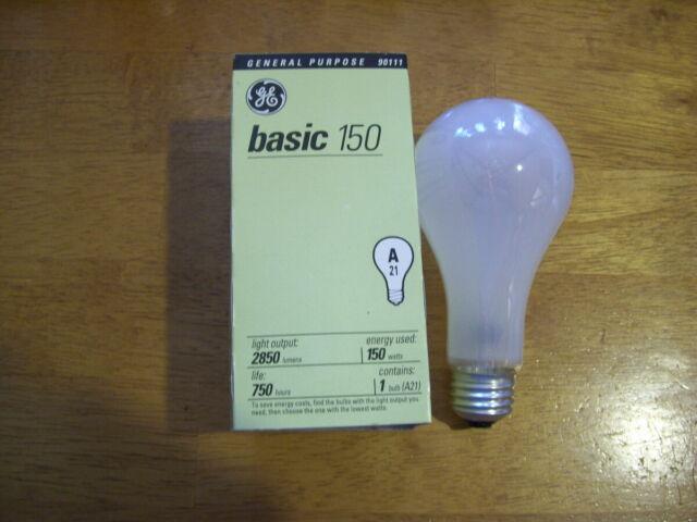 GE 10429-6 A21 Incandescent Soft White Light Bulb 150-Watt 6-Pack