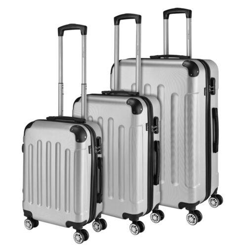 coque rigide trolley bagages à main valises bagages Valise de Voyage Set 3tlg