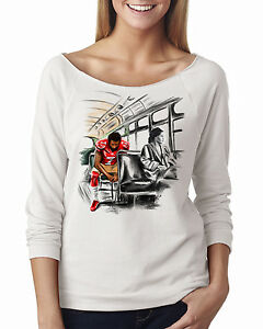 Colin-Kaepernick-Rosa-Parks-Stand-by-Sitting-Women-039-s-3-4-Scoop-Neck-White