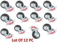 Casters 12pcs 3  Caster Wheels Swivel Furniture Wheels 3 Inch