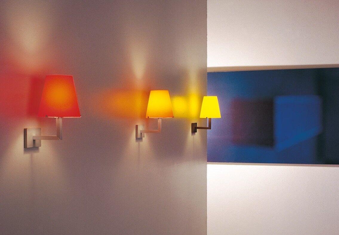 Viabizzuno emma vetro vetro vetro giallo lampada a parete applique