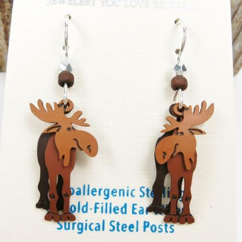 Details about  /Sienna Sky Earrings Sterling Silver Hook Three-Part Moose Handmade in USA 1603