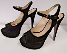 7703dde96bc item 4 PRADA Black Suede Open Toe Platform Slingbacks w  Gold Buckle - Size  37.5 -PRADA Black Suede Open Toe Platform Slingbacks w  Gold Buckle - Size  37.5