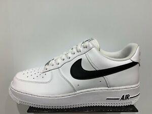 Detalles de Nike Force 1 bajo Blanco Negro Air Hombre Talla 8 13 ds nuevo ver título original
