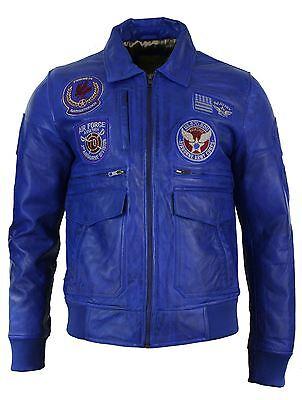 Aviatrix US Air Force Flying Aviation Black Bomber Leather Jacket for Mens