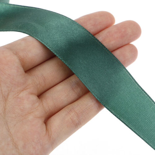 22M//Roll 2.5CM Silk Satin Ribbons for Crafts Gift Wrap Party Wedding Decorat RP
