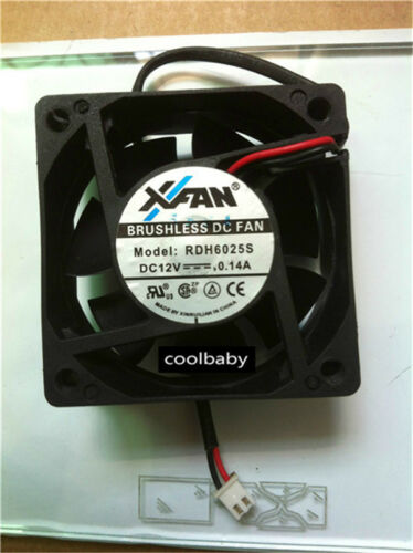 XFAN RDH6025S fan DC12V 0.14A 2pin  60*60*26mm