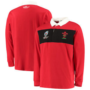 Reebok Wales Rugby WRU Men/'s Basic Polo Shirt New Red