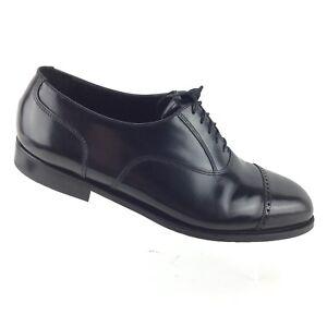 Florsheim-Men-039-s-Black-Leather-Brogue-Cap-Toe-Oxford-Dress-Shoes12-EEE-Wide-R8S5
