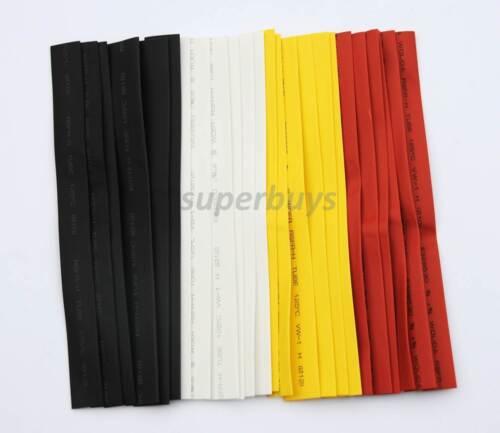 24Pc 200mm Polyolefin Heat Shrink Heatshrink Tubing Tube Wrap Crimp Wire Kit Set