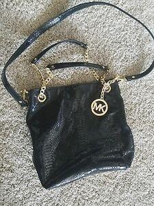 3d0779c56 NEW Michael Kors Black Alligator Handbag Purse with gold accents | eBay
