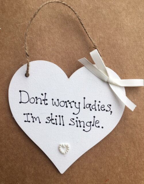 4 X Custom15x15cm wedding sign Don't Worry Ladies I'm Single bridesmaid page boy