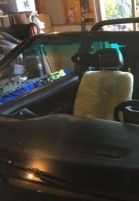 Deluxe Plush Universal Low Back Bucket Seat Cover Sheepskin Charcoal Dk Grey
