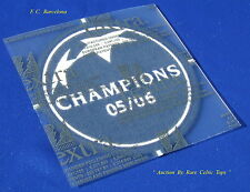 Rare Lextra Player Issue FC Barcelona Champions League Winners 2006 Armpatch