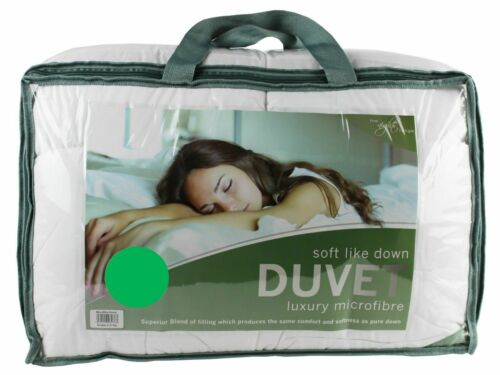 Single Bed Microfibre Duvet 10.5 Tog Soft Touch Feels Like Down Stitched Edges
