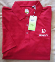 Dewar's Scotch Callaway X Series Red Golf Shirt Polyester S/s Men's Large