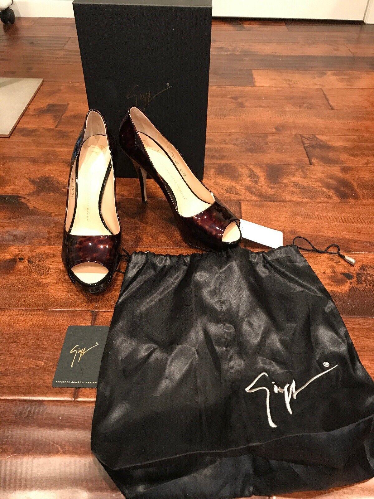 Giuseppe Zanotti Design  Plato Persol Brown  shoes, Size 10 (US) 40 (IT)