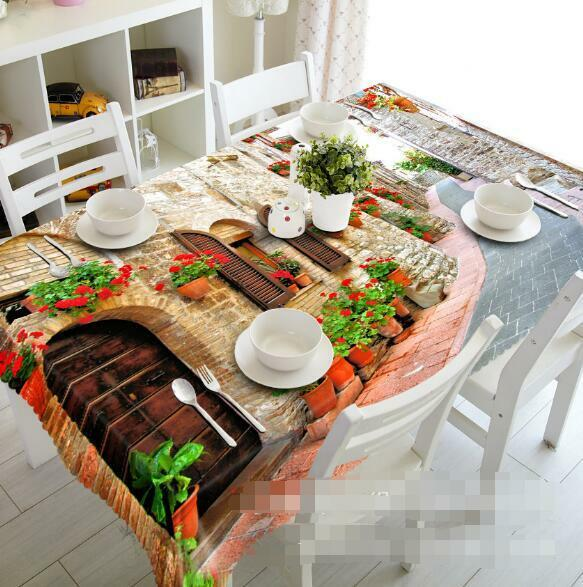 3D Street 422 Tablecloth Table Cover Cloth Birthday Party Event AJ WALLPAPER AU