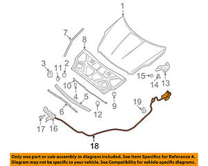 image is loading nissan-oem-07-13-altima-hood-latch-lock-