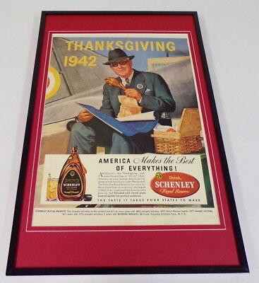 1942 Schenley Whiskey Framed 11x17 ORIGINAL Vintage ...