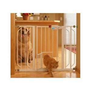 Baby Kids Safety Gate With Dog Cat Pet Door Carlson Extra