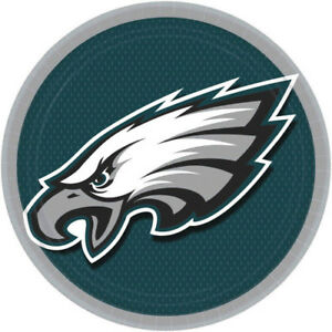 Details About Nfl Philadelphia Eagles Large Paper Plates 8 Birthday Party Supplies Dinner