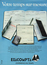 Publicité 1983  EXACOMPTA  agenda de poche ou de bureau cuir