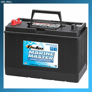 deka genuine new dp31dt marine deep cycle starting battery 860amp mca group 31 ebay. Black Bedroom Furniture Sets. Home Design Ideas