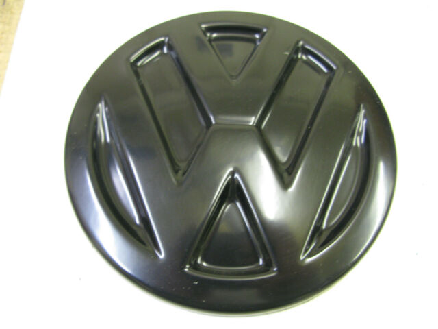 VW  TRANSPORTER T5 CADDY BLACK ABS REAR DOOR BADGE COVER