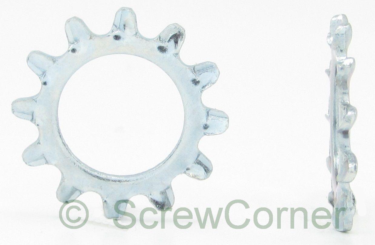 Zahnscheiben außenverzahnt  1 4 Stahl verzinkt  - External Tooth Washer zinc
