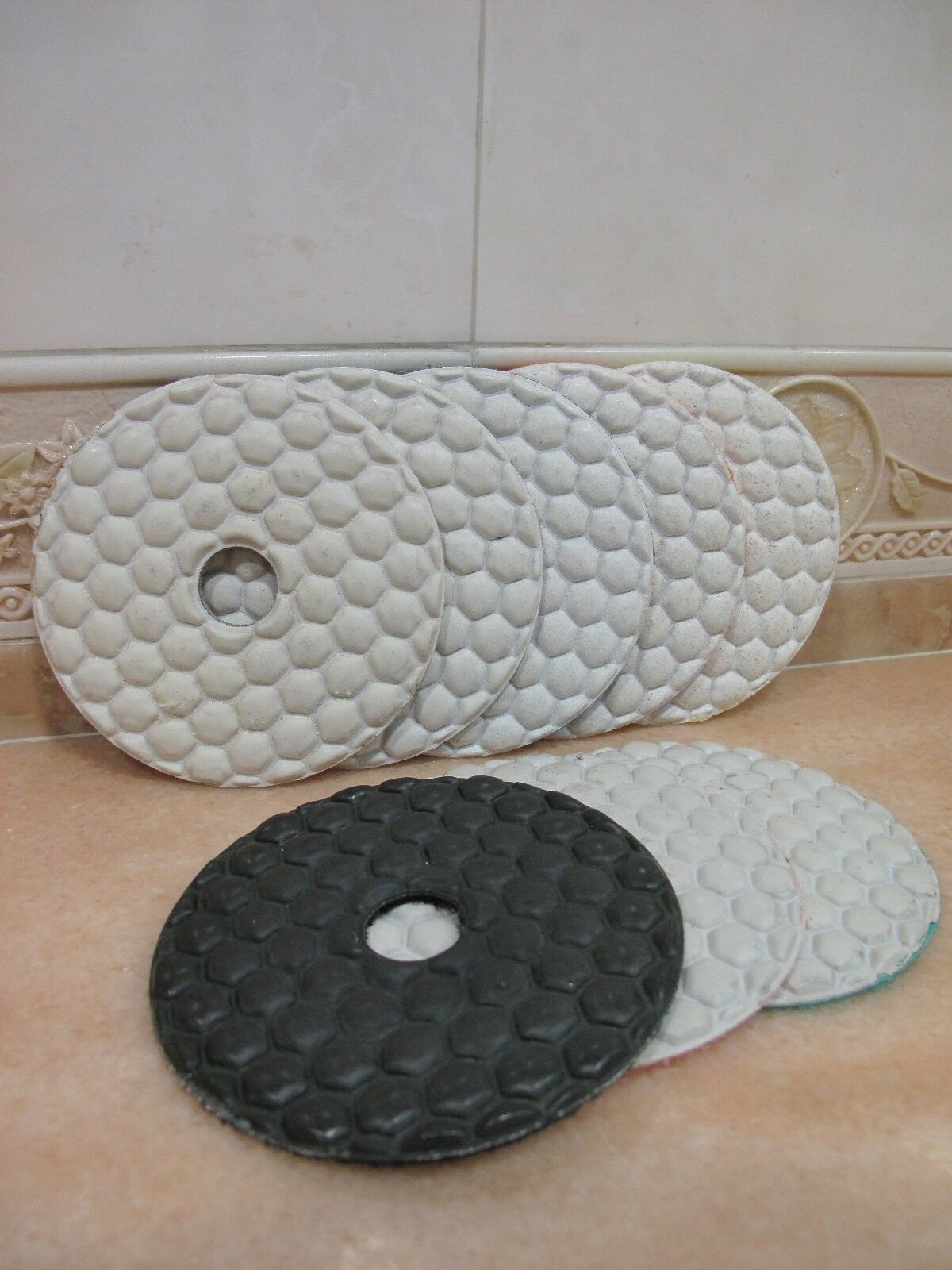 "4/"" inch 100mm THK Diamond WET polishing pads pad disc marble granite Standard AA"