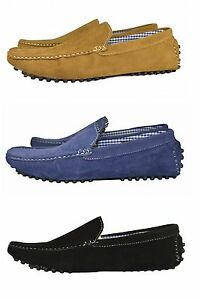 New-Men-039-s-Leather-Look-Desgner-Shoes-ItalianLoafer-Casual-Moccasin-UK-6-11