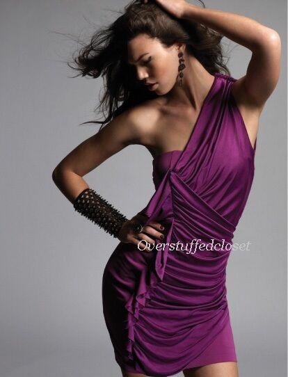 NWT 2B. RYCH Draped Jersey One-Shoulder Dress 6