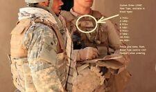 MARSOC USMC ID hook/loop TAPE Custom Embroidery Name/Rank/A+ POS/Unit + Flag Tab