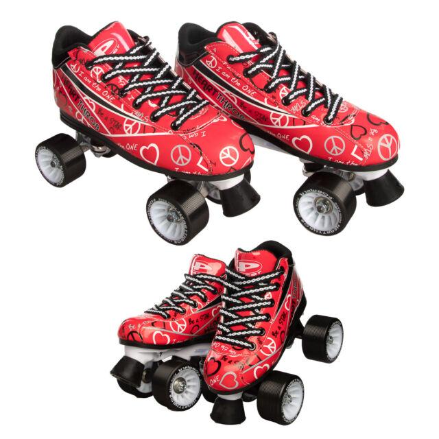 Skates For Sale >> Pacer Heart Throb Speed Style Roller Skates For Women Girls Quad Derby Wheels