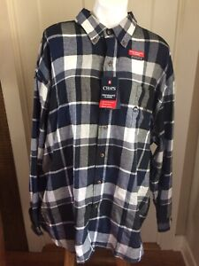 Men/'s Chaps Big /& Tall PERFORMANCE BRUSHED FLANNEL BREATHABLE SHIRT NWT $60