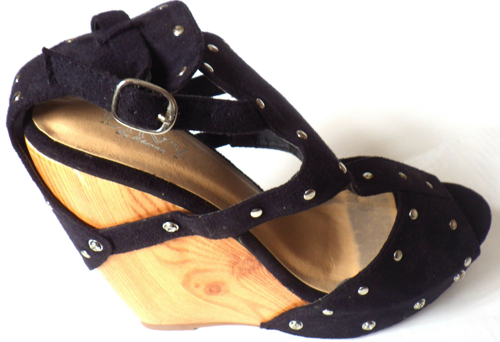 HIGH PLATFORM PARTY SHOES HIGH WEDGE SHOES BLACK WEDGE SHOES FASHION ENVY D3414