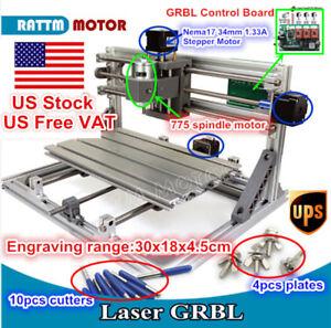 Details About At Us Diy 3 Axis Cnc 3018 Desktop Pcb Pvc Milling Engraver Machine Wood Router