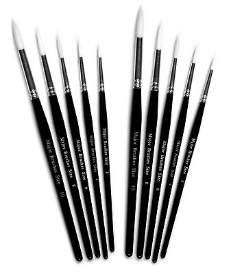 Major Brushes  0 SIZES  SABLE MODEL X 3 MODELLNG MODELING FINE PAINT Brush
