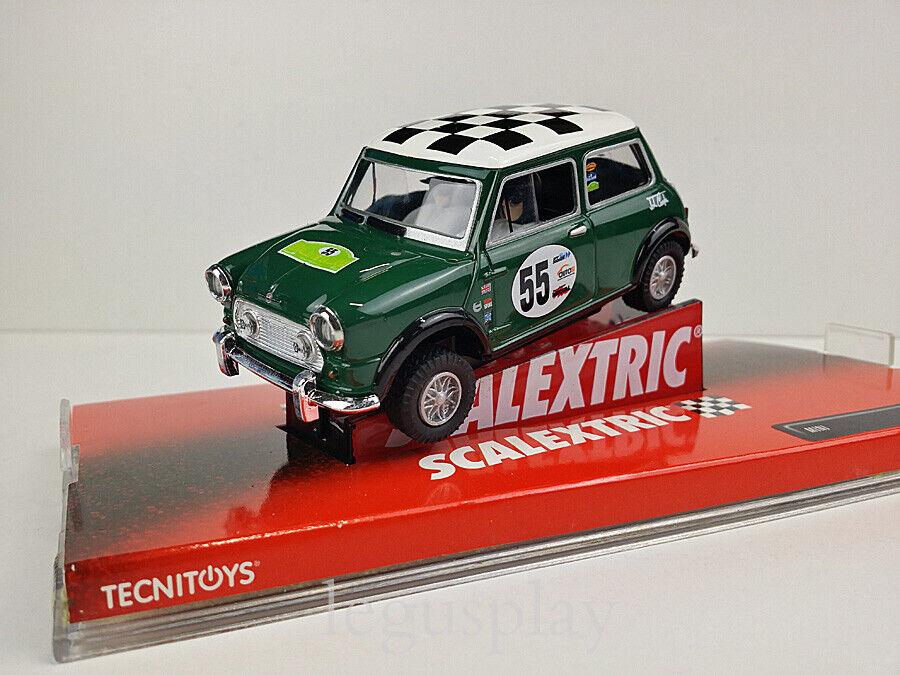 Slot car SCX Scalextric 6396 Mini Cooper  Rally de la Llana  - Nº55