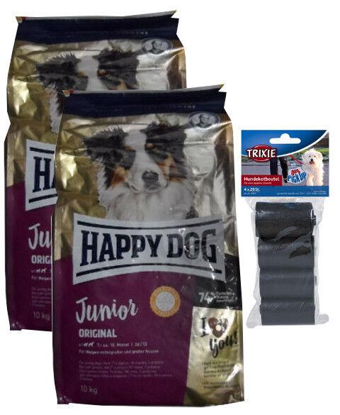 2x10kg HAPPY DOG Supreme Young JUNIOR ORIGINALE cibo per cani  80 PZ. kotbeutel