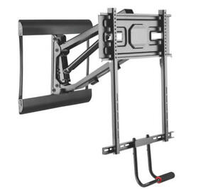 primecables above fireplace pull down full motion for 43 70 tv wall mount ebay. Black Bedroom Furniture Sets. Home Design Ideas