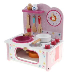 Wooden-Cookware-Toy-Kitchen-Cooking-Bench-Pots-Pan-Play-Set-Educational-Gift