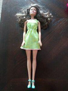 Brunette Hazel Eyed Barbie Doll 2015