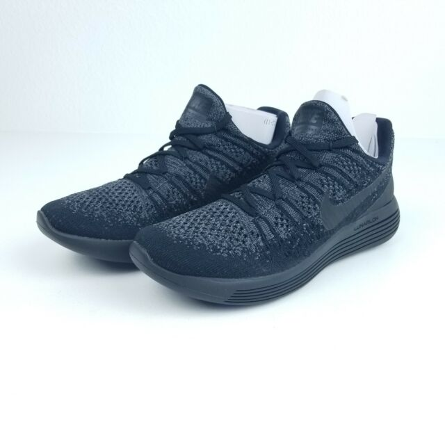 pretty nice 0a4ab b9379 Nike Lunarepic Low Flyknit 2 Mens Running Shoes 8.5 Black Dark Grey 863779  004